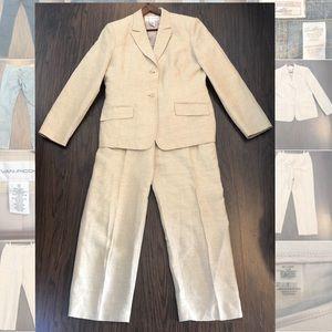 Evan Picone linen blend Pants suit size 12-14